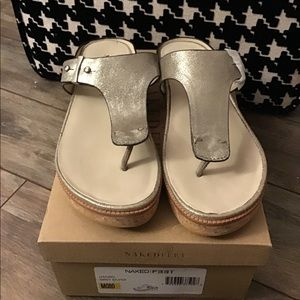 Naked Feet Hadidd sandals brand new in box
